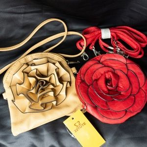 Set of 2 Flower Crossbody Purses by 22Tote